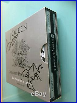 Queen Brian May Roger Taylor CD Freddie Mercury Bohemian Rhapsody UACC signed x2