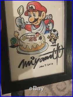 RARE NINTENDO SHIGERU MIYAMOTO SIGNED SUPER MARIO 25th Anniversary