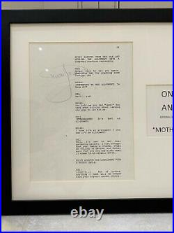 RARE Only Fools and Horses Original Script Page signed by Sir David Jason COA
