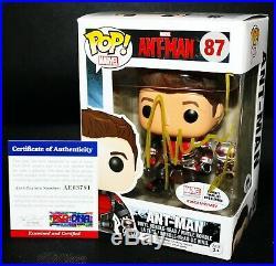 RARE Paul Rudd Signed Ant-Man Exclusive Autographed Avengers Funko POP PSA JSA