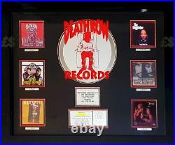 RIAA DEATH ROW Plaque Authentic Hip Hop Sales Award Tupac 2pac Signed Autograph