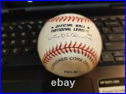 RUSH LIMBAUGH rare sweet spot signed Official MLB baseball (NL)