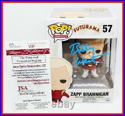 Rare Billy West Signed Zapp Brannigan Autographed Futurama Funko POP JSA PSA