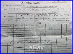 Rare Jimi Hendrix Personally Owned & Anotated Signed Tapes WithCOA