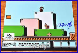 Rare Nintendo Shigeru Miyamoto Autograph Signed Super Mario Bros 3 Photo Psa