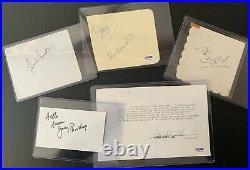Rat Pack Signed Autographed Frank Sinatra Dean Martin Sammy Lawford PSA/DNA JSA