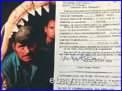 Robert Shaw JAWS signed contract and photo 1975 ultra rare