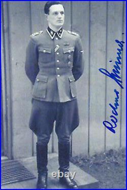 Rochus Misch Signed 4x6 Inch Photo Hitler's Bodygaurd German WW2 Last Witness
