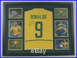 Ronaldo Signed & Framed Jersey Brazil LEGEND AFTAL COA (FTO)