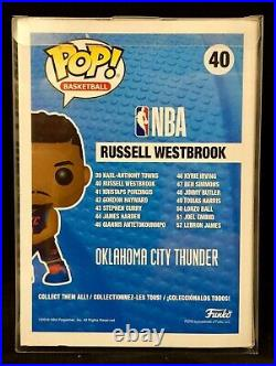 Russell Westbrook Autographed/Signed Funko Pop with COA