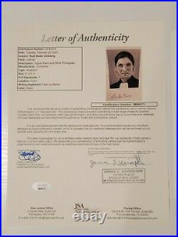 Ruth Bader Ginsburg Photo Autograph JSA Authentication Signed Photograph RBG
