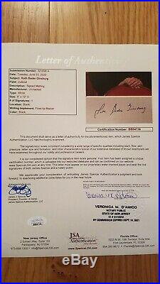 Ruth Bader Ginsburg RBG Autograph JSA Certificate COLOR Photo Signed