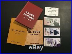 SIGNED Alejandro Jodorowsky Holy Mountain Santa Sangre & El Topo Script Books HC