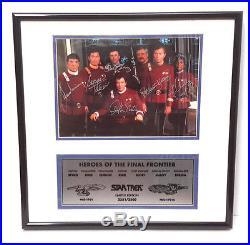 STAR TREK Movies Crew Autographed Framed Print-Doohan/Kelley/Nimoy- Scoreboard