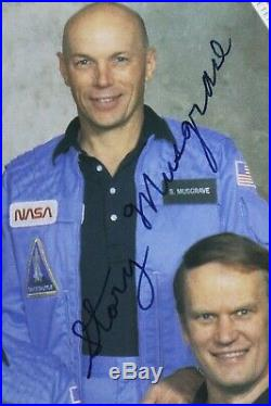 STS-6 Autopen Signed by Paul Weitz, Karol Bobko, Story Musgrave, Donald Peter