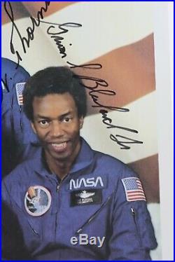STS-8 Official Autopen Signed Truly, Brandenstein, Bluford, Gardner, Thornton