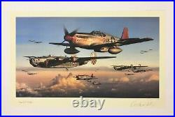 Safe Passage Home by John Shaw signed by Tuskegee Pilot Charles McGee