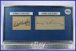 Signed Hubert Humphrey & Henry Kissinger (COA from JSA) Autograph & Framed