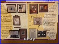 Signed Jfk Assassination Collage John F. Kennedy Oswald Ruby Ford Coa