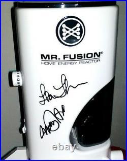 Signed MICHAEL J. FOX & LEA THOMPSON Back to Future Official MR. FUSION CA Coa