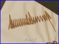 Spectacular Donald J. Trump Autograph Signed Golf Club Los Angeles Pin Flag DJT