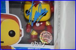 Stan Lee Signed Autographed Marvel Iron Man Funko Pop Excelsior Bas Coa F94885