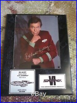 Star Trek Dr. McCoy Signed Autograph by Deforest Kelley Limited Edition Plaque