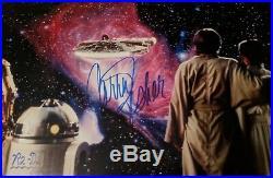 Star Wars Nebula 16x20 Hamill Fisher Baker Daniels Official Pix Signed
