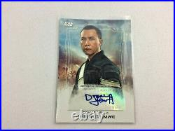 Star Wars Rogue One Topps Autograph 2016 Donnie Yen, Chirrut Imwe Card