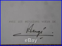 Studio Herge Christmas card (Carte De Voeux) 1971 signed by Herge rare
