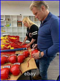 Sylvester Stallone & Dolph Lundgren Signed Gloves Rocky Balboa Ivan Drago COA