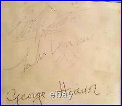 The Beatles Autogramm alle 4! COA! Authentic Autograph of all 4 Beatles! Signed