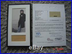 The Beatles JOHN LENNON Signed Autographed Framed Cut Signature JSA COA