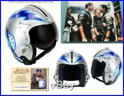 Top Gun Val Kilmer signed ICEMAN Flight Aviator Helmet NAVY RAF Topgun UACC RD