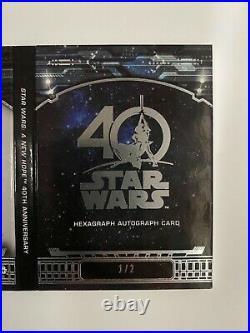 Topps Star Wars 40th Anniversary Hexagraph Auto Book 1/2 RARE Hamill, Ford