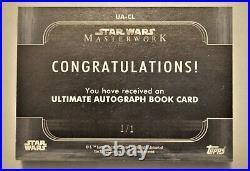 Topps Star Wars Masterwork 2020 ULTIMATE AUTOGRAPH BOOK 10 AUTOS! 1/1