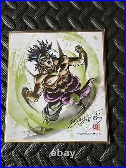 Toriyama Akira autographed Shikishi Card Art Board Dragon Ball Japan