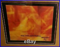 Trent Reznor Nine Inch Nails Signed Framed Poster Broken AUTOGRAPH 447/999