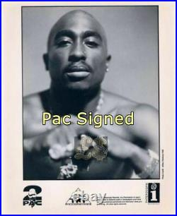 Tupac 2Pac Shakur Handwritten Lyric Page Signed JSA Certified Death Row HipHop