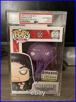 Undertaker Signed Funko Pop PSA Amazon Exclusive GITD Glow Autograph Purple WWE