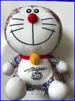 Uniqlo Doraemon X Signed by Takashi Murakami Plush Toy AUTOGRAPHED On April 26th