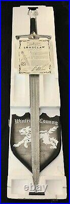 Valyrian Steel Longclaw Jon Snow Sword GRRM Autographed 1st LE OOP Book Edition
