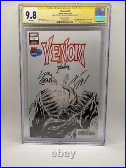 Venom 3 Variant CGC 9.8 SS 2x Signed Cates Stegman Knull King In Black