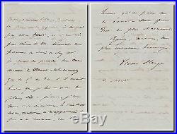 Victor Hugo (Les Misérables) autograph letter signed