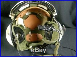 Vintage Us Coast Guard Uscg Gentex Flight Helmet Helicopter Pilot Autographed
