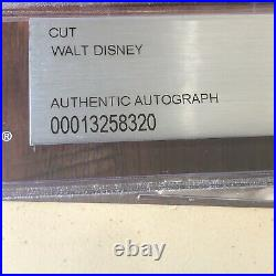 WALT DISNEY Beckett BAS Slabbed Large Autograph Cut Signature Signed