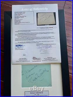 WALT DISNEY JSA LOA Original Early AUTOGRAPH Signature SIGNED