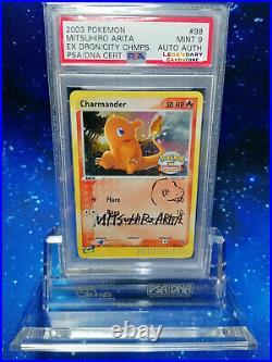 WOW! PSA Autographed Charmander HOLO sketch Mitsuhiro Arita Pokemon NO Charizard