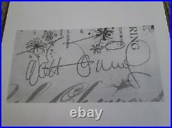 Walt Disney signed Chouinard 1961 not dedicated autograph Salvador Dali cover