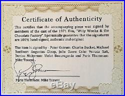 Willy Wonka Golden Ticket Autographed (signed) By Five + Bonuses